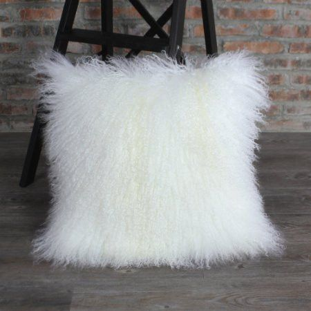 "Mongolian Faux Fur Pillow 18"" - GoGetGlam  - 1"