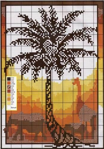 EVENING IN THE TROPICS - Landscape - cross stitch PATTERNS - File Catalog - HOBBY