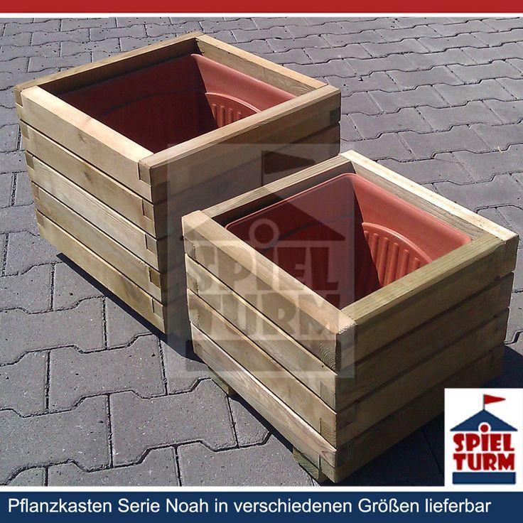 HOQ Pflanzkasten BEN / NOAH Pflanztrog Pflanzkübel aus Holz mit Einsatz | eBay