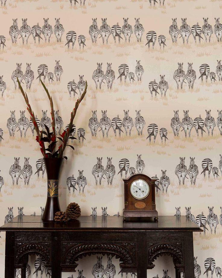Juliet Travers | Designer Wallpaper Zebra Wallpaper <3