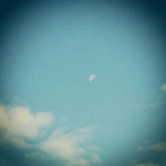 Luna en la mañana. Oaxaca,Méx.