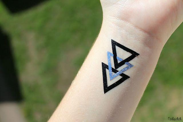 Cool triangle tattoo sticker!
