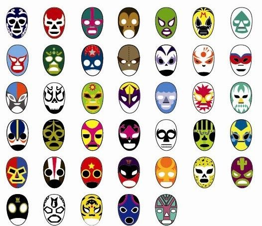 Mascaras de Lucha Libre by Sophia Stein, via Behance