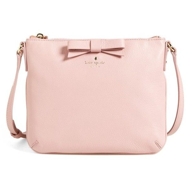 kate spade new york 'north court - bow tenley' pebbled leather... ($119) ❤ liked on Polyvore