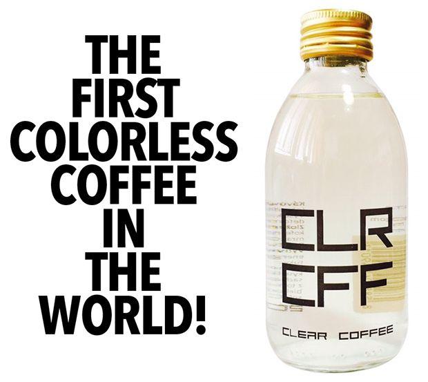 "CLR CFF (Clear Coffee) o 1º ""café incolor"" do mundo"