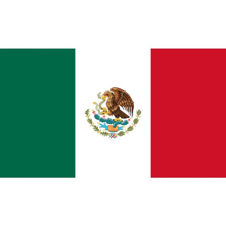 Tafelvlaggen Mexico 10x15cm | Mexicaanse tafelvlag De vlag van Mexico is een driekleur met vanaf de hijszijde naar het uiteinde de kleuren groen, wit en rood; in de middelste baan staat het wapen van Mexico. Ook van achteren gezien bevindt de groene baan zich aan de hijszijde en kijkt de adelaar richting de stok.