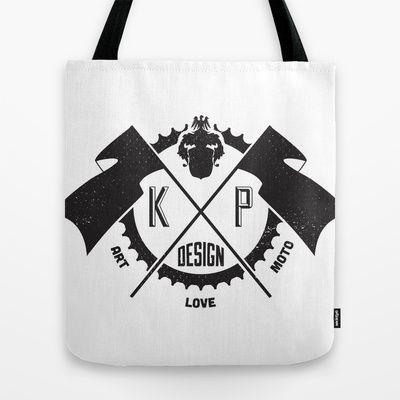 KP Design : Art - Love - Moto Tote Bag by Kris Petrat - $22.00