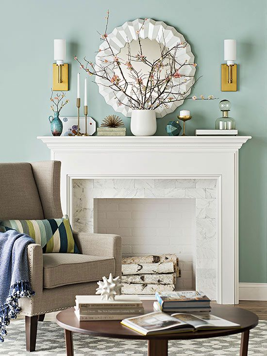 Creative ideas for your mantel living room color schemes fireplaces