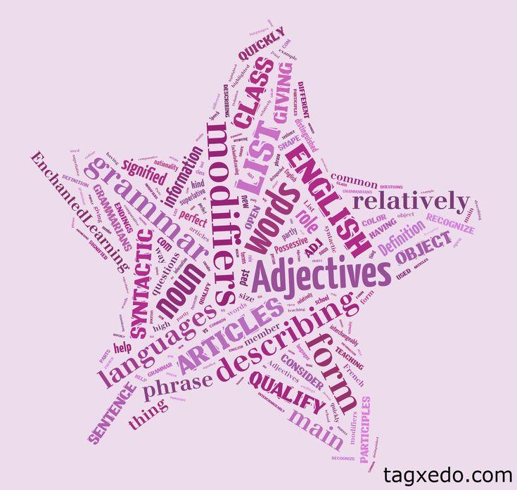 List of Adjectives | Hugh Fox III