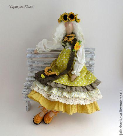 Куклы Тильды ручной работы. Ярмарка Мастеров - ручная работа. Купить ЖЕЛАЕТ (желтый). Handmade. Желтый, кукла ручной работы
