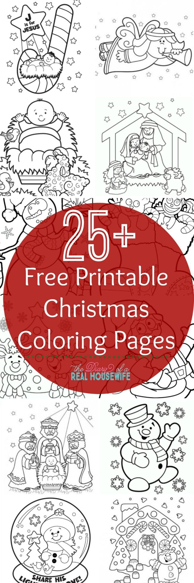 Free Printable Christmas Coloring Pages Kids Holiday CraftsFamily