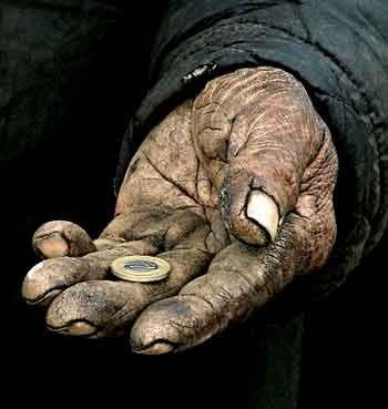 I remember when my dad would come home from work, and his hands would look like this.
