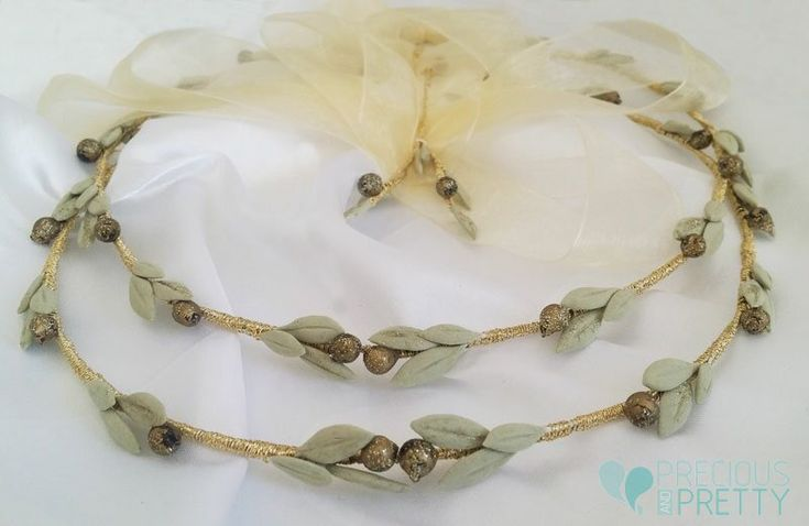 Greek wedding crowns olive leaves N608
