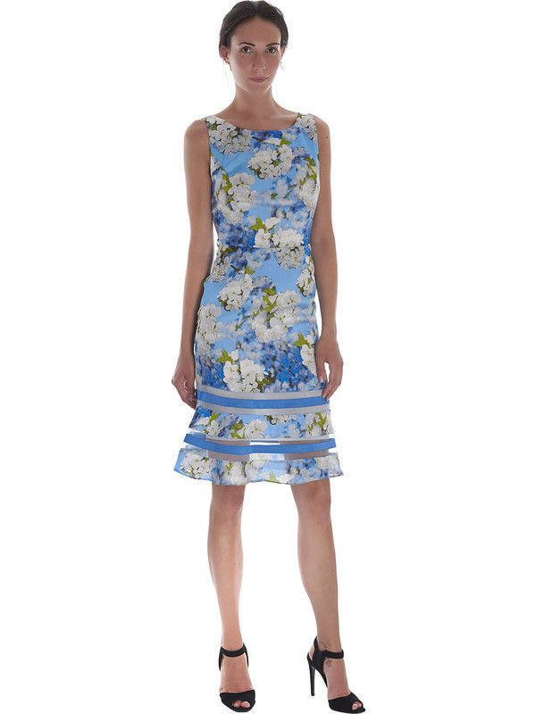 Women's blue floral ceremony dress by Pastore Couture