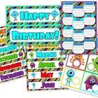This birthday display will make your classroom monster-rific!    Included is a birthday header, month labels, individual students monsters, and a s...