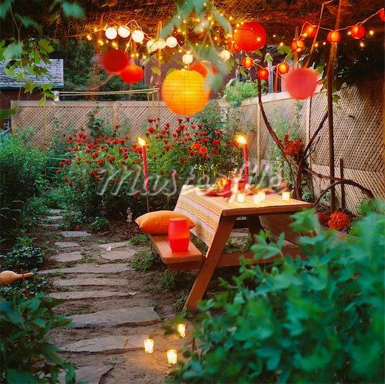 Garden String Lights Pinterest : I m a fan of the woven ceiling and string lights & lanterns. #garden #decor Gardens/Gardening ...