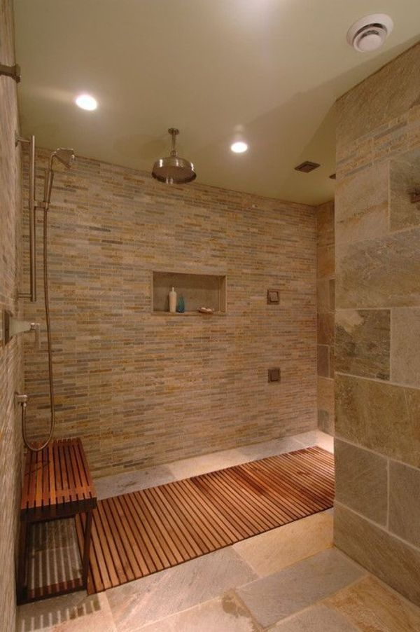 Le receveur de douche extra plat l gance pour la salle de bains archzine - Lumiere douche italienne ...