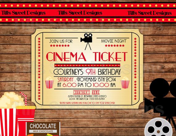 18 best Back to School images on Pinterest Ticket invitation - free printable movie ticket invitations