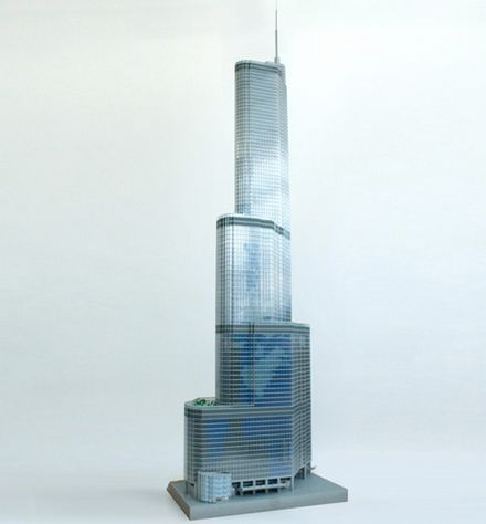 65,000 LEGOS Create a 10-Foot Tall Replica of the Trump Tower