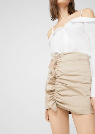 Spódnica z falbaną | MANGO