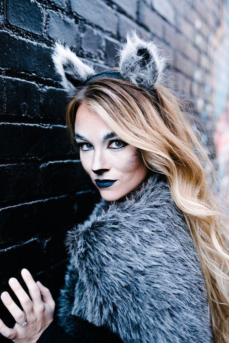 Wolf Halloween Makeup! Women's feminine makeup and Halloween costume!