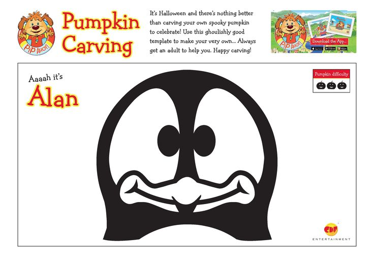 Use these ghoulishly good template to carve your very own Aaaah It's Alan pumpkin! Always get an adult to help you! #Halloween #HappyCarving #AaaahItsAlan