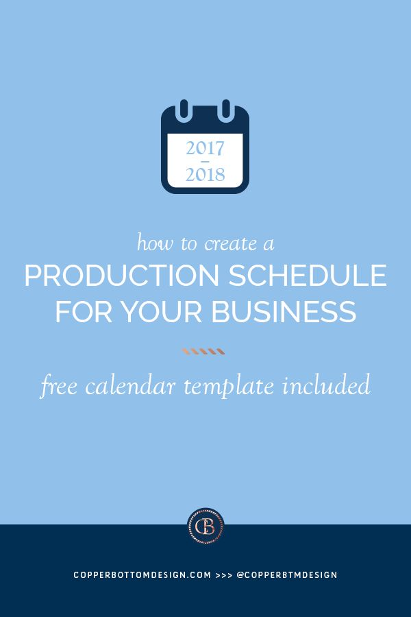 How to Create a Production Schedule for Your Business Copper - production schedule template