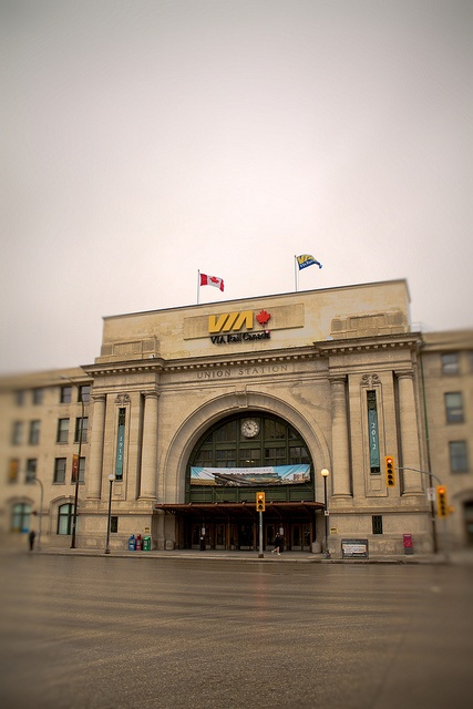 Via Rail Canada on a cloudy day @ Main Street, Winnipeg, Manitoba