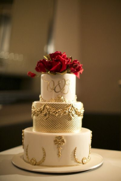 red gold and white wedding cakes 11 best real weddings images on ben israel 19124