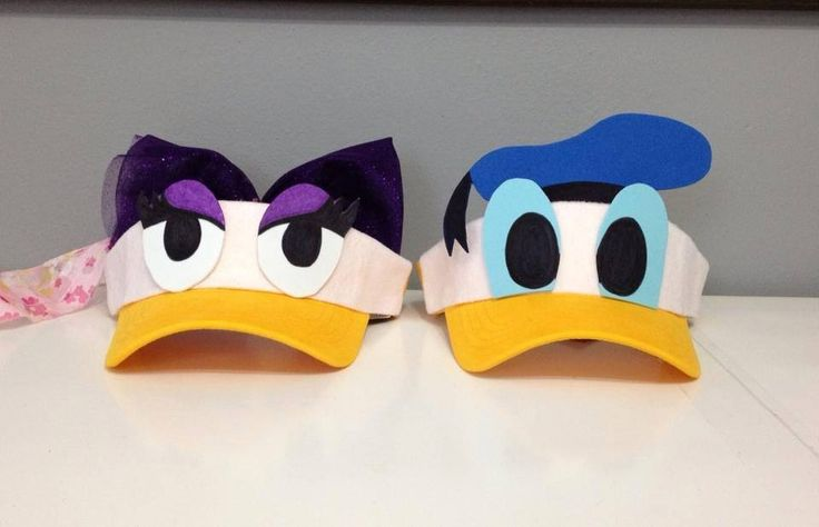 Donald and Daisy visors                                                                                                                                                     More