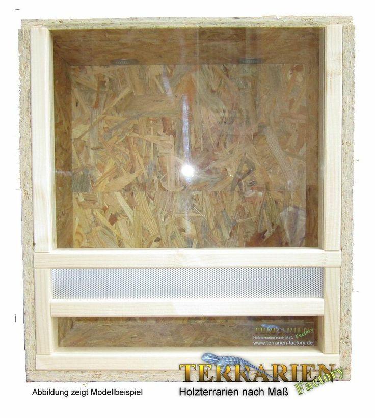 OSB Holz Terrarium 45x50x30 cm  mit Falltür von Terrarien Factory