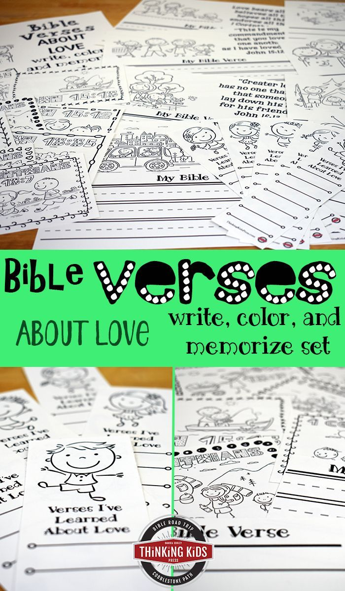 Bible Verses about Love: Write, Color, and Memorize Set   Discipling ...