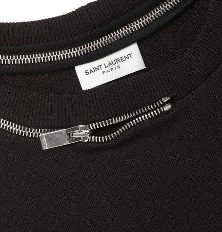 saint laurent | zipper sweatshirt