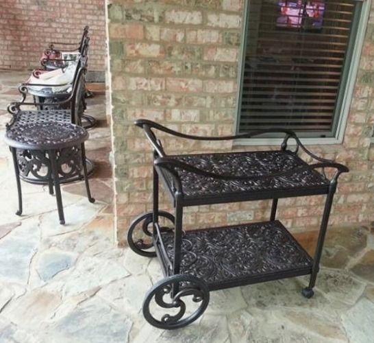 Hanamint Chateau Tea Cart Yard Of The Month   July   Yard Art Patio U0026  Fireplace