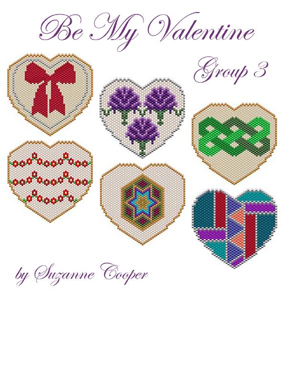 Be My Valentine Group 3 | Bead-Patterns.com