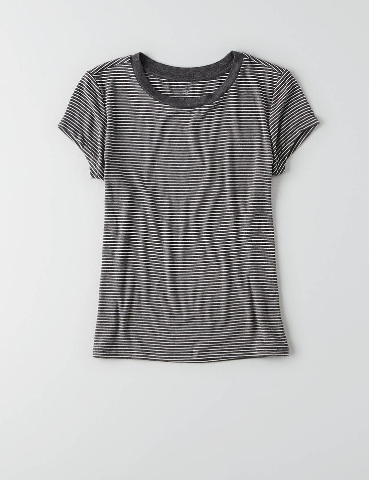AEO Soft & Sexy Tomgirl T-Shirt , Medium Heather Grey | American Eagle Outfitters