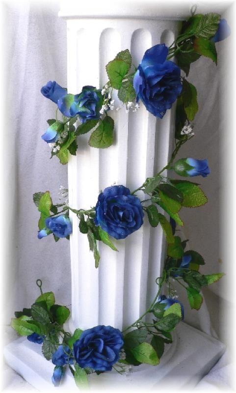 royal blue wedding theme | Royal Wedding Theme Party on Royal Blue Silk Roses Garland Wedding ...