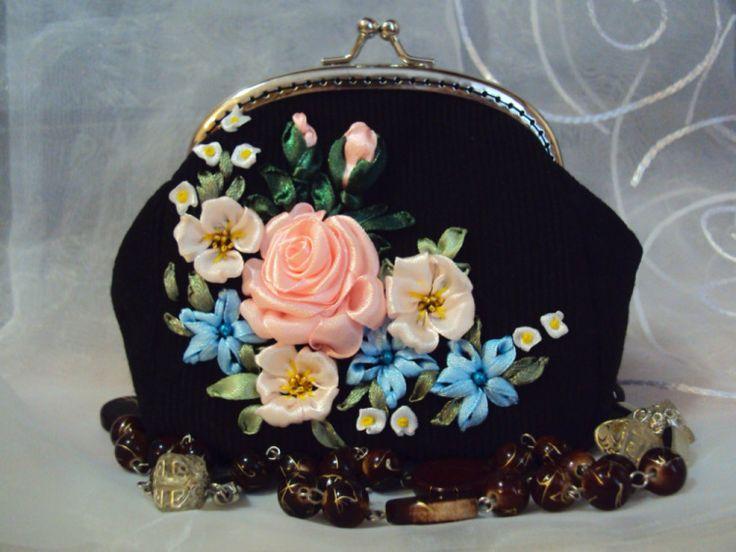 """Gallery.ru / Косметичка """"Нежные цветы"""" - Мои сумочки - Irina-mist"""