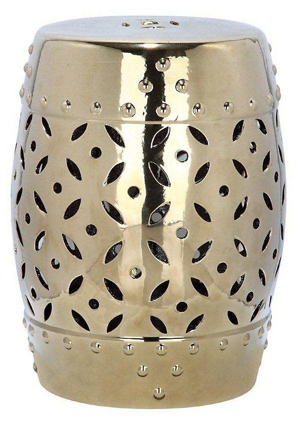One Kings Lane - Impress Your Guests - Aurora Ceramic Garden Stool Gold  sc 1 st  Pinterest & 86 best g a r d e n . s t o o l images on Pinterest | Ceramic ... islam-shia.org