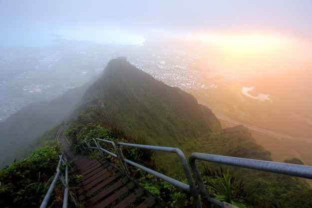 Haiku Stairs of Oahu in Hawaii, United States | 27 Surreal Places To Visit Before You Die