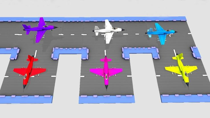 Learn Colors for Children With Coloured Planes | 3D Animated Airplanes L...