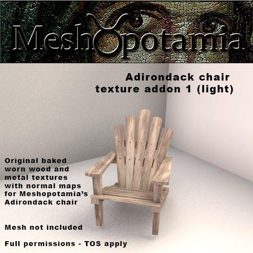 Meshopotamia Adirondack texture addon set 1 (Light)