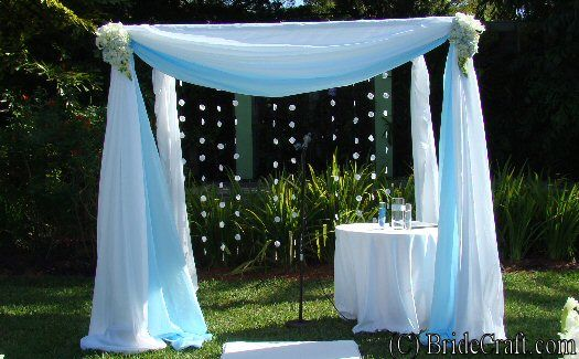How beautiful is this?  I can picture it set up on the sand with the ocean behind it!