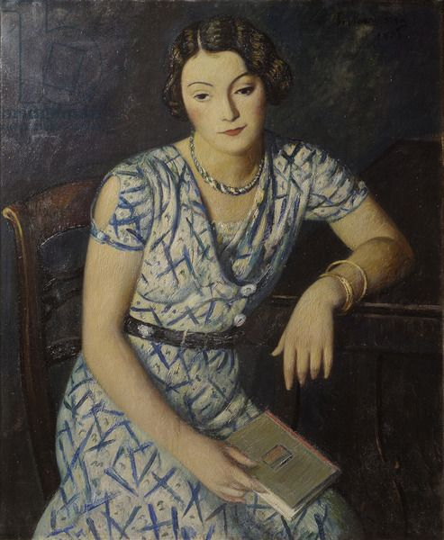 Piero Marussig (Italian, 1879-1937) - Portrait of a Girl, 1930 - Oil on canvas