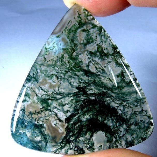 68.55Cts. 100% NATURAL MOSS OPAL PEAR CABOCHON UNTREATED AFRICAN ROYAL GEMSTONE