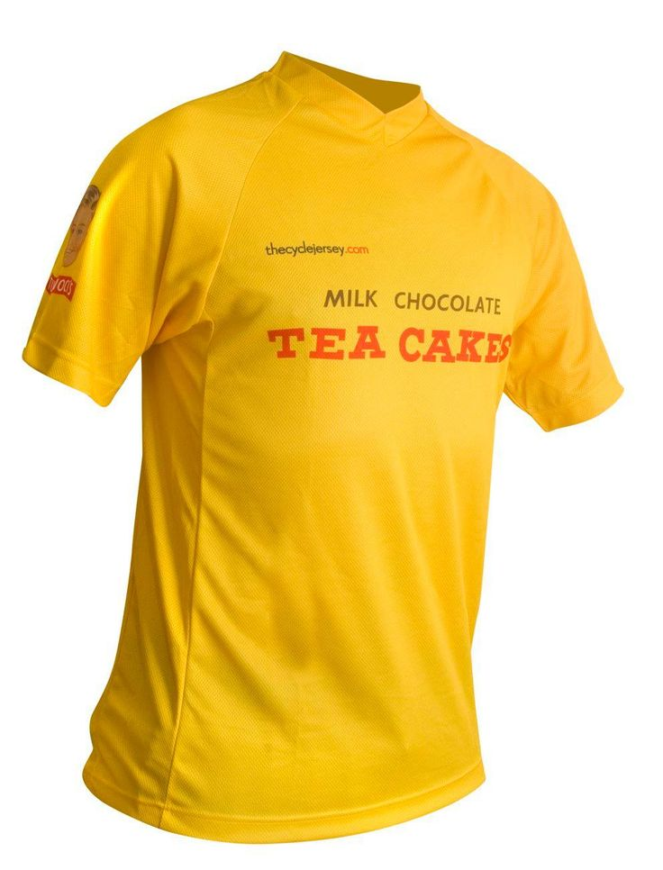 Thanks to Tunnocks, here is a fantastic freeride mtb cycling jersey for sale to anyone with a taste for pure Scottish cakes...  Thanks to those smashing guys in the factory we have even managed to get some Tunnocks Tea Cake boxes for you to wrap the jersey and give to the one you love. Or at least someone who is mad for Tunnocks...