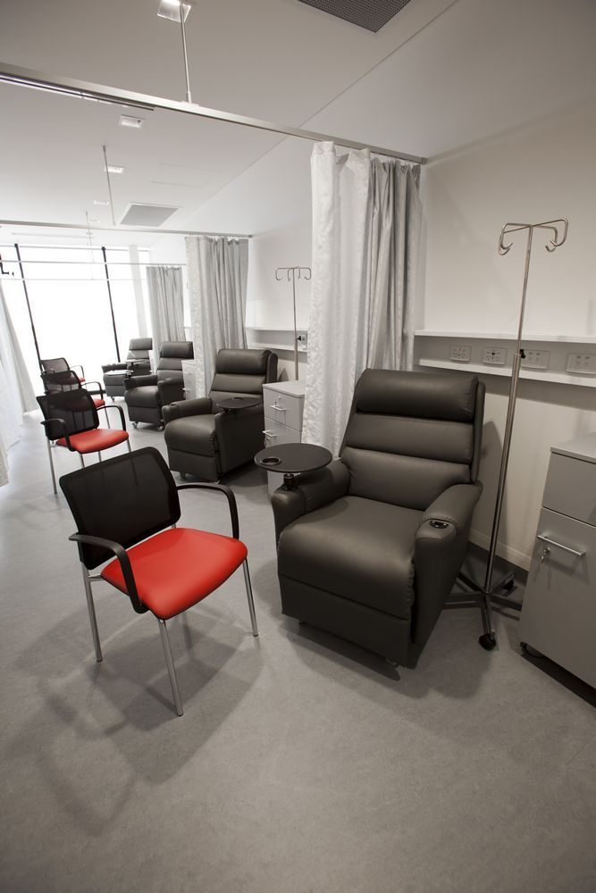 VISMET visitor chair. Genesis Cancer Care project by Burgtec