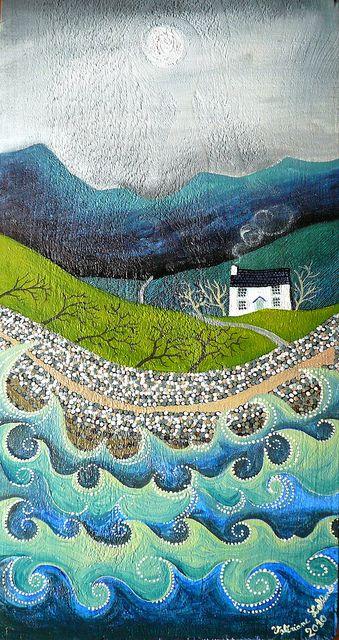 valeriane leblond. sea landscape with houseflickr.com