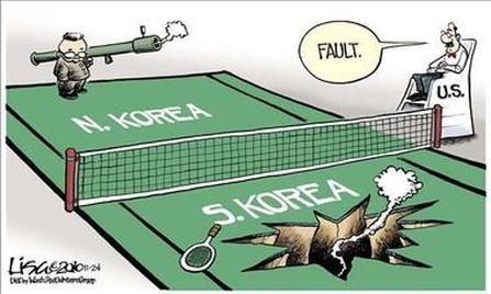 koreaanse oorlog de legers tegenoverelkaar -Noord gesteund door china en de sjovet-unie. en zuid werd gesteund door de de VS en veel landen van de NAVO