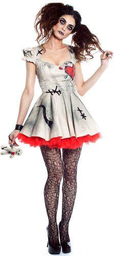 Sexy Scary Voodoo Doll Dalia Costume - Mr. Costumes